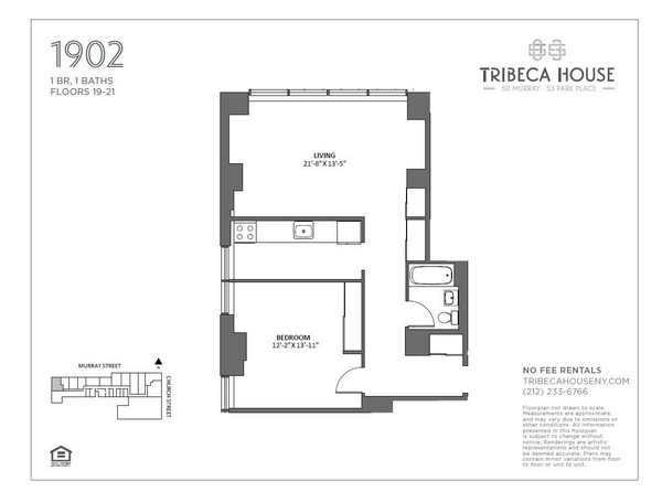 Rendering of 50 Murray 1902 floorplan